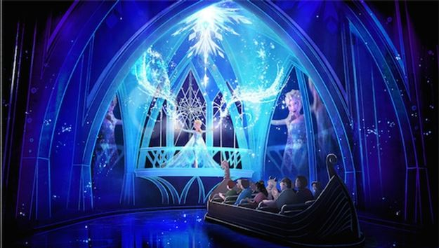 Frozen Attraction concept art for Epcot ©Disney