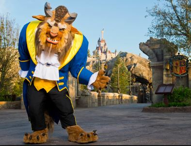 Beast at Be Our Guest Restaurant in the Magic Kingdom